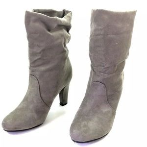 Express Shoes - Express Taupe Suede Booties Sz 8 O433